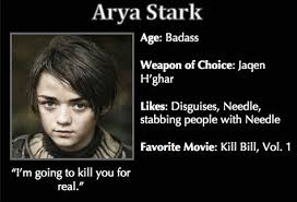 Game of Thrones Trading Cards - Arya Stark | G.O.T. | Pinterest ... via Relatably.com