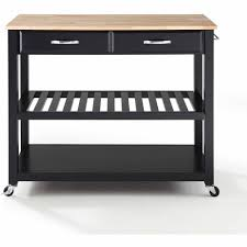 Crosley Kitchen Cart Granite Top Crosley Furniture Natural Wood Top Kitchen Cart With Optional