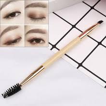 1 шт. бамбуковая Ручка <b>Двойная кисть для бровей</b> Косметика ...