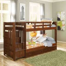 heartland twin over twin bunk bed with stairs amazing twin bunk bed