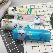 Cool Alpaca Pencil Case <b>Holographic Laser Pen Bag</b> Student Large ...