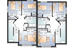 Attractive Two Family House Plan   DR   CAD Available    Reverse Floor Plan Pinit white