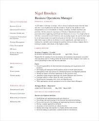 operations manager resume sample example format business operations manager resume sample