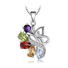 <b>JewelryPalace Butterfly</b> 2.4ct Genuine Amethyst Garnet Peridot ...