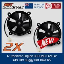 <b>2x 12V 6</b> inch thermo Radiator COOLING FAN fan Pit Trial dirt bike ...