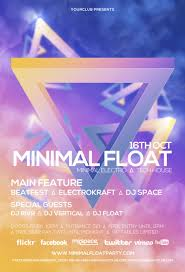 minimal float electro electro club psd flyer template minimal float electro club psd flyer template