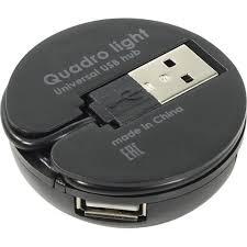 <b>Концентратор USB</b> 2.0 Defender Quadro Light Black — купить ...