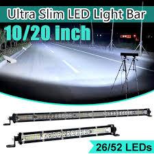 10/<b>20 inch Ultra Thin</b> LED Light Bar Combo Beam Spot Flood Beam ...