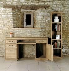 baumhaus mobel oak twin pedestal computer desk baumhaus mobel oak twin