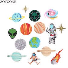 <b>ZOTOONE</b> Space Patch Iron On Astronaut Planet Patches For ...