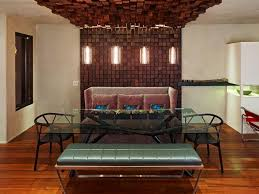 wood accent wall in dining room accent lighting ideas