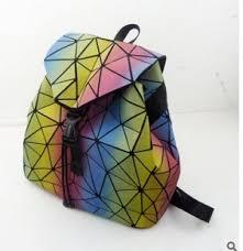 <b>Рюкзак Рюкзак светящийся геометрический</b> с застёжкой ...