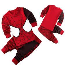 Spiderman Printed Pattern <b>Kids</b> Set <b>Pajamas</b> Set <b>Boys Sleepwear</b> ...