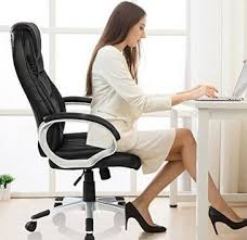 merax high back new office pu leather ergonomic office chair computer chair adjustable boss chair buying an office chair