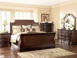 black bedroom set sleigh bed wood