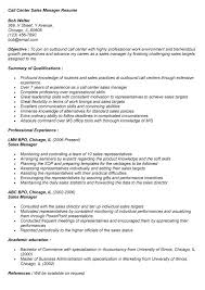 Inbound sales call center resume