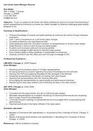 Inbound sales call center resume