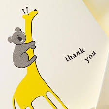 koala and giraffe thank you note thank you crane com koala giraffe thank you note