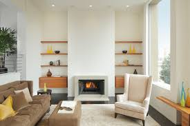 fireplace with built in shelves living room modern with built in shelves dark floor built living room