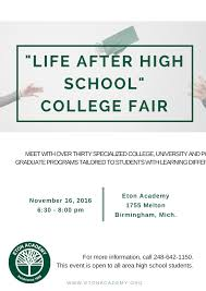 life after high school college fair life after high school flyer page 001