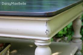 painted and distressed table daisymaebelle chalk paint coffee table