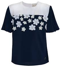 Купить <b>Блузка Stefania</b> Pinyagina размер 140, тёмно-синий по ...