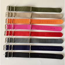 18mm 20mm 22mm 24mm nato fabric Nylon <b>watchband</b> Watch ...