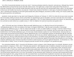 essay on jfk  www gxart orgjfk assassination essayjohn f kennedy at   com essay on abraham lincoln