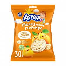 <b>Агуша Хлебцы мини</b> рисовые с грушевым соком 30 г ...