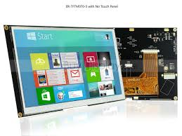 <b>7 inch</b> LCD Module w/Optional <b>Capacitive Touch</b> Screen Panel,I2C ...