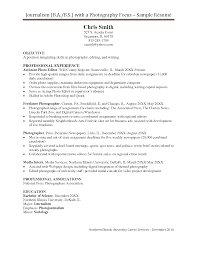sample photography resume cipanewsletter sample resume for photography job resume pdf