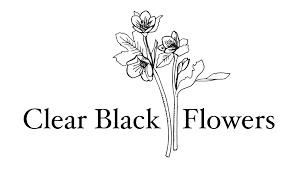 Clear <b>Black Flowers</b>