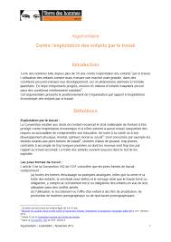 position paper against child labour terre des hommes