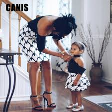 Mother Daughter Dresses Spring Autumn <b>2019</b> Matching Outfits ...