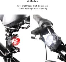Ascher Rechargeable <b>LED Bike Lights</b> Set - <b>Headlight</b> Taillight ...