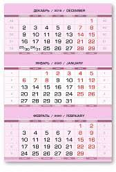 <b>Календарные блоки Европа Арт</b> металлик, Мини 1-сп, розовый ...