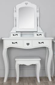 white stained wooden mirror dressing table bathroom lighting ideas dress mirror
