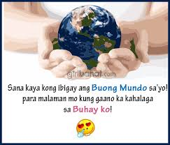 Cheesy Tagalog Love Quotes and Messages | Girl Banat via Relatably.com