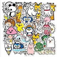 【<b>36 PCs Set</b>】<b>Cute</b> Japan Animals Cartoon Waterproofed Luggage ...