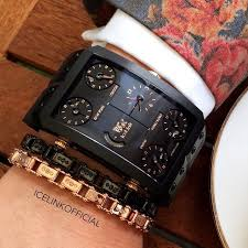 IceLink Z E R M A T T • Black PVD Titanium with 18K Gold screws ...