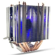 <b>6 heat pipes</b> blue led <b>cpu cooling</b> fan cooler heat sink for intel lag ...