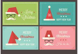 retro christmas vector art s santa cap christmas retro vector cards