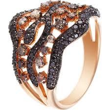 <b>Кольцо с 157 бриллиантами</b> из красного золота купить - 757247