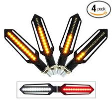 CarThree <b>4PCS</b> Motorcycle Turn Signal 24LED <b>Flowing Water</b> Tail ...