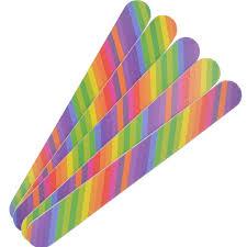 Retail <b>1Pc</b> 2 Side <b>Rainbow</b> Color Professional Nail File Tool, Nail Art ...