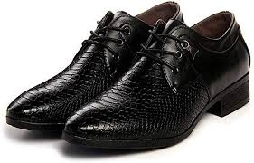 New Imitate Snake Leather Men Oxford Shoes Lace ... - Amazon.com