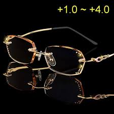 Retail Rhinestone <b>Reading</b> Glasses Women <b>Diamond Cutting</b> ...