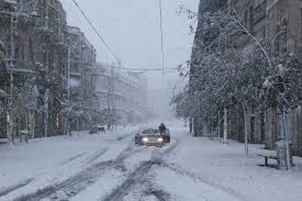 Image result for Israel braces for mega snowstorm
