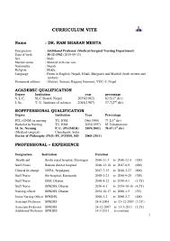 resume format for bsc nursing  seangarrette coresume format for bsc nursing