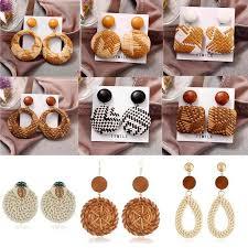 <b>2019 New Fashion</b> Sector Rhinestone <b>Fringe Tassel</b> Earrings For ...